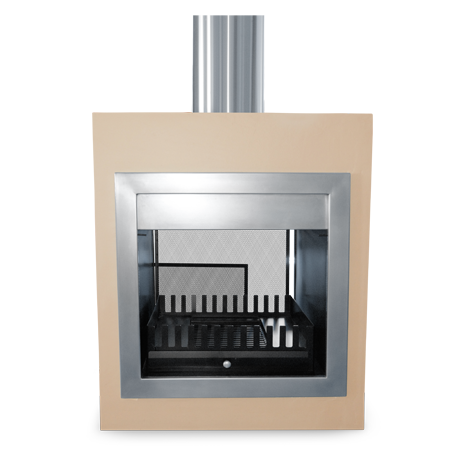Gas Wood Stainless Steel Fireplaces Exclusiv Design